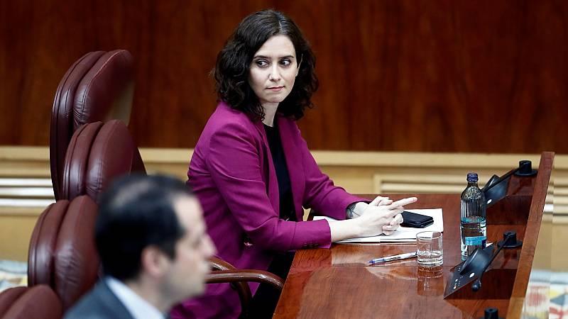 Ayuso anuncia una investigación por el contrato a Room Mate y defiende las manifestaciones del Barrio de Salamanca