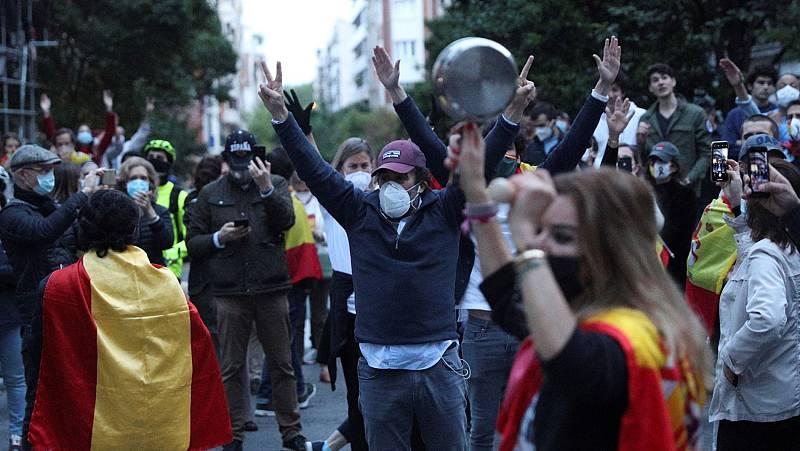 Rifirrafe ente el Gobierno de Madrid y la oposición por las manifestaciones en el barrio de Salamanca