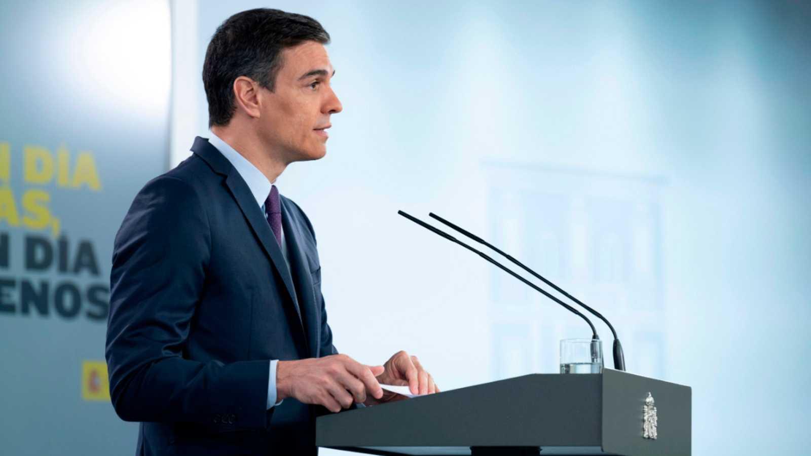 """Sánchez pedirá al Congreso una última prórroga del estado de alarma """"de alrededor de un mes"""""""