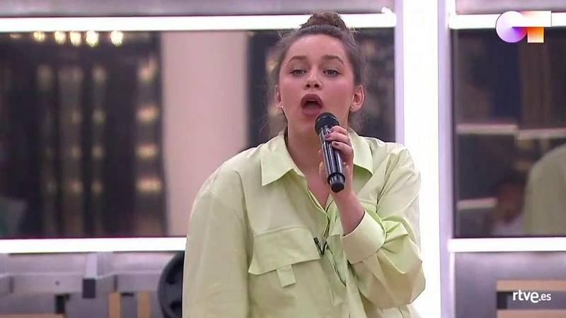 """Eva canta """"Part Time Lover"""", de Stevie Wonder, en el primer pase de micros de la """"Gala 10"""" de Operación Triunfo 2020"""