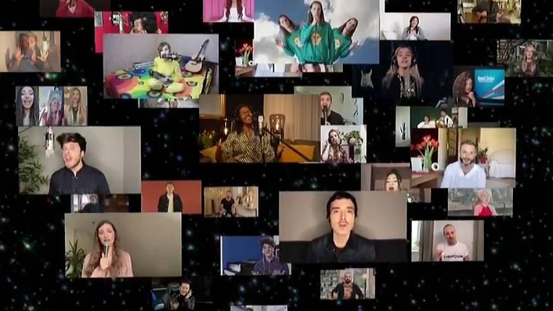 """Eurovisión 2020 - Los candidatos de Eurovisión 2020 cantan """"Love shine a light"""""""