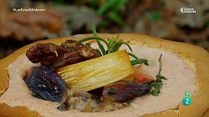 Cabrito en conserva con hummus de Feijoas
