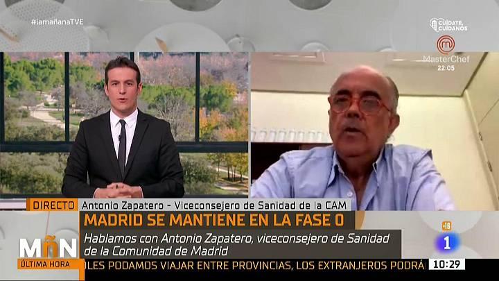 """Antonio Zapatero,viceconsejero de Sanidad de Madrid: """"No se han tenido en cuenta los mismos criterios para todas las comunidades"""""""