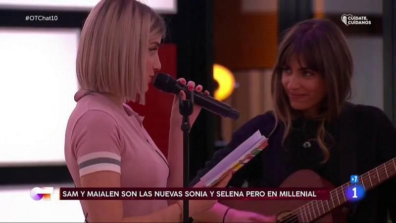 Samantha y Maialen cantan y recitan para sus compañeros en El Chat 10