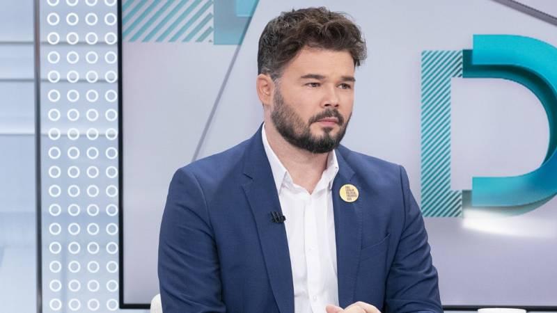 """Rufián ve """"un movimiento inteligente"""" de Bildu en el acuerdo con el PSOE para derogar la reforma laboral"""