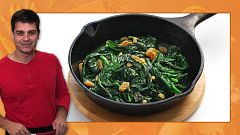 Recetas de cuarentena con Sergio - Truco para cocinar espinacas