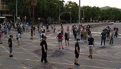 Protestas independentistas en las calles de Barcelona 70 días después