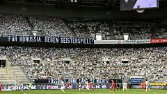 Aficionados de cartón en el estadio del Borussia Moenchengladbach
