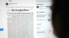El New York Times recuerda en su portada a los casi 100.000 muertos con coronavirus en Estados Unidos