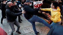 Incidentes en Pamplona tras una manifestación de apoyo a Patxi Ruiz, preso de ETA