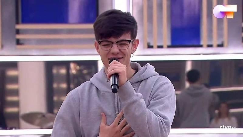 """Flavio canta """"Calma"""", de Flavio, en el segundo pase de micros de la Gala 11 de Operación Triunfo 2020"""