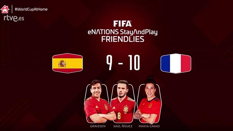 Francia se impone a España por un gol en los amistosos del eNations Cup