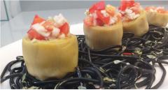 Corazones de alcachofas rellenos de vinagreta