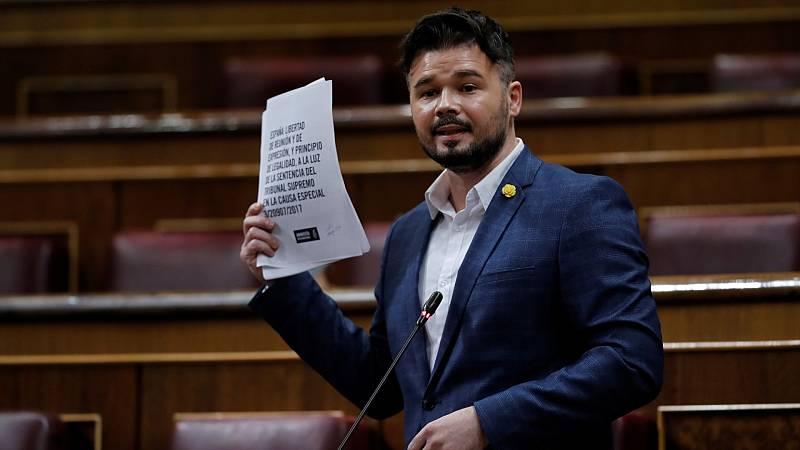 """Rufián, sobre Pérez de los Cobos: """"Los informes de la Guardia Civil no son más falsos ahora que los que hacía sobre el 1-O"""""""