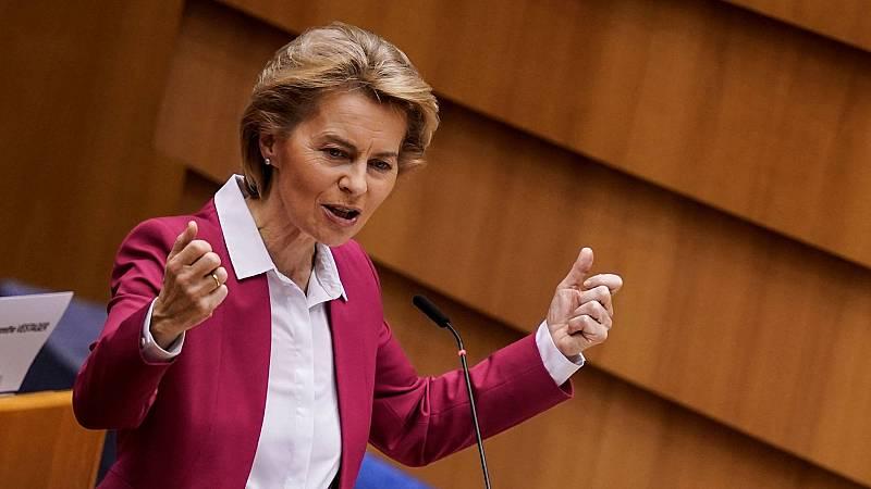 """Von der Leyen (CE): """"El virus se ha convertido en una crisis económica palpable que no podemos evitar"""""""