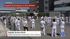 España Directo - Así se ha vivido en España el minuto de silencio por todas las víctimas que ha dejado consigo el Covid-19