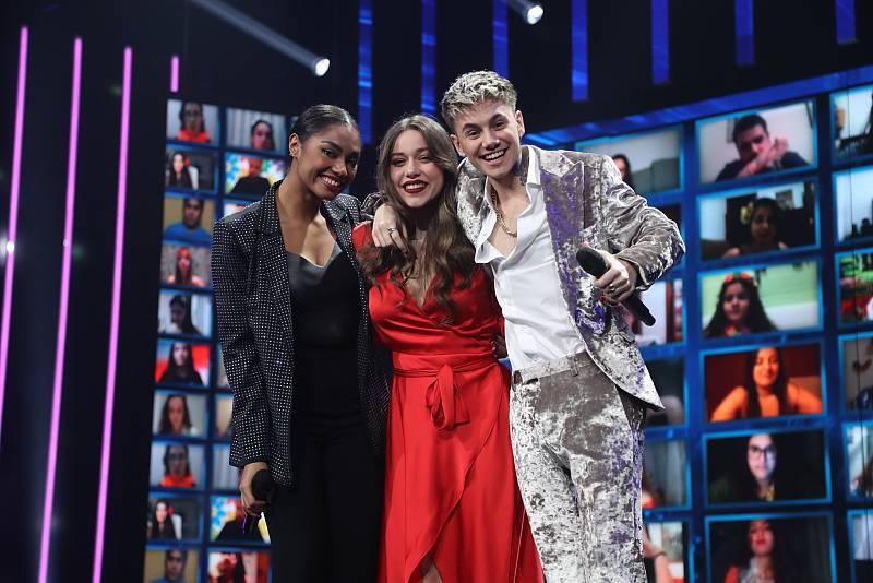 Nia, Hugo y Eva, los tres primeros finalistas de OT 2020