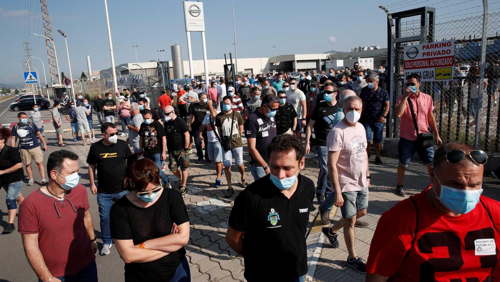 Protestas de los trabajadores de Nissan