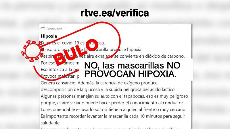 ¿Causan hipoxia las mascarillas?