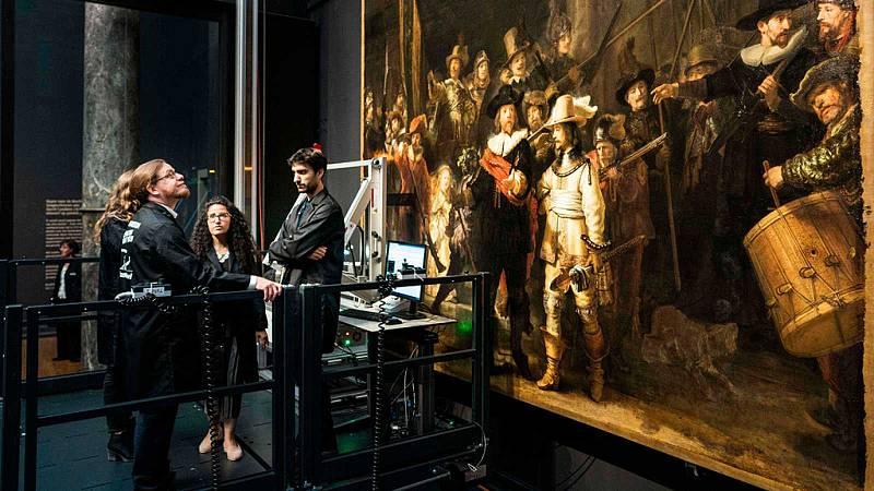 Las nuevas tecnologías desvelan los secretos del cuadro 'La ronda de noche', de Rembrandt