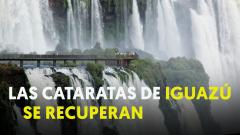 Las Cataratas de Iguazú renacen tras la sequía