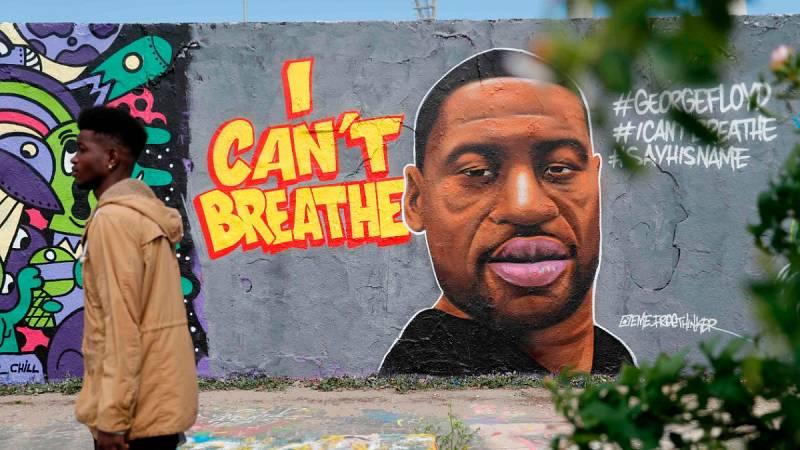 """""""No puedo respirar"""", el lema de las protestas por la muerte del afroamericano George Floyd en Mineápolis"""