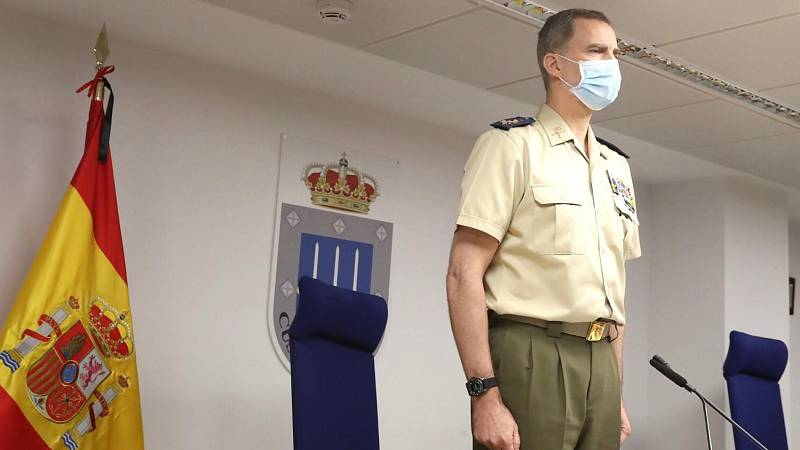 """El rey agradece a las Fuerzas Armadas haber combatido el coronavirus """"en primera línea"""""""