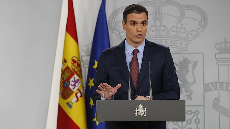 """Sánchez anuncia que pedirá una """"última y definitiva"""" prórroga del estado de alarma"""