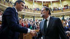 Se cumplen dos años desde la moción de censura a Rajoy que convirtió a Sánchez en presidente