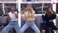 """OT 2020 Nia, Samantha y Anajú cantan """"R.I.P."""" en el segundo pase de micros de la Gala 12 de Operación Triunfo"""