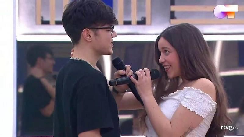"""Eva y Flavio cantan """"Hey, Baby"""", de Bruce Channel (v. DJ Otzi & The Bellamy Brothers), en el segundo pase de micros de la Gala 12 de Operación Triunfo 2020"""
