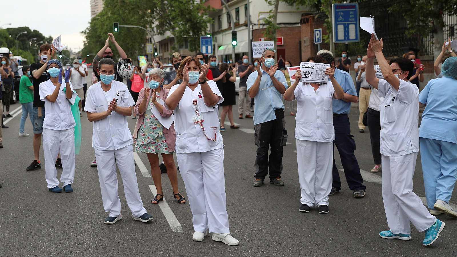 Gran concentración por la sanidad pública en Madrid