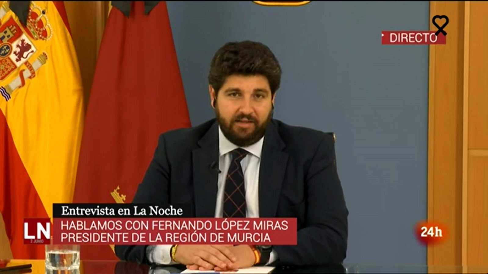 López Miras confirma que Murcia pide el pase a la Fase 3 con restricciones de aforo en actos públicos