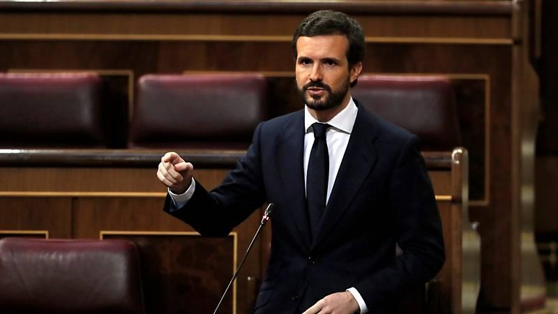 """Casado ve a Sánchez """"prisionero"""" de sus apoyos: """"Convierte cada votación en un bazar"""""""