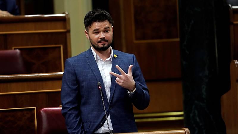 """Rufián: """"ERC no es socio del Gobierno, lo es del diálogo y de la gente"""""""
