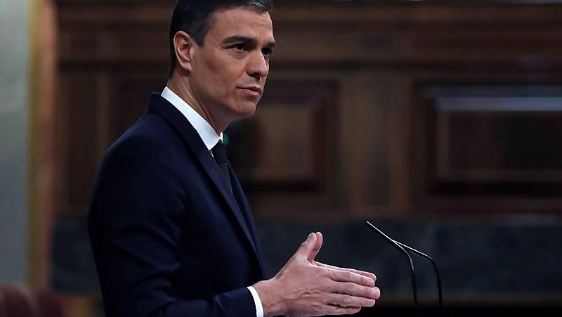 """Sánchez acusa de """"mala fe"""" a Abascal y Casado y recuerda que hubo manifestaciones el 8-M en todo el mundo"""
