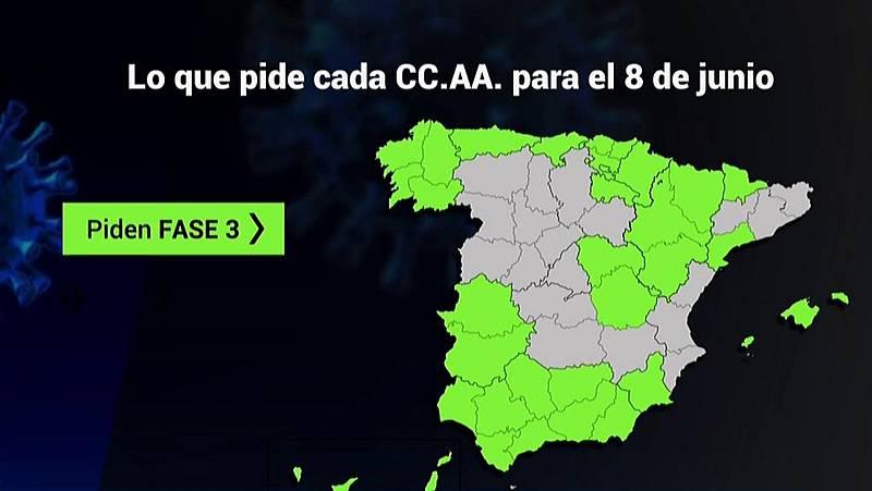 Desescalada: 13 comunidades podrían estar el lunes en Fase 3