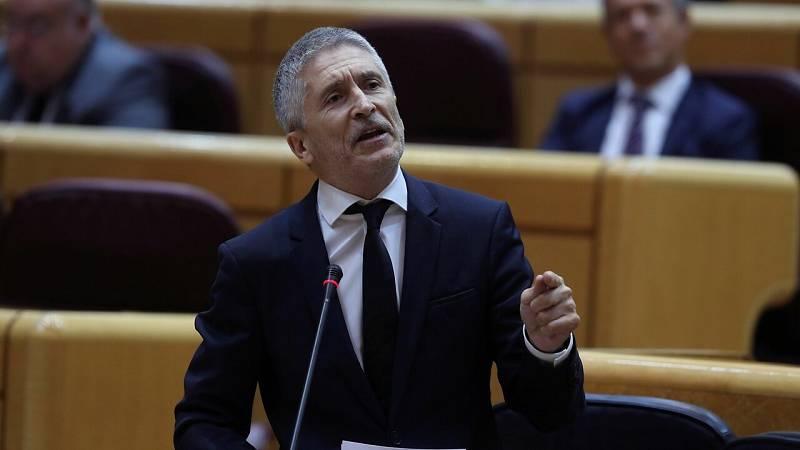 """Grande-Marlaska: """"Ni este ministro ni ningún miembro de su equipo pidió tener conocimiento de ningún informe"""""""