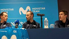 Movistar define sus líderes para las grandes vueltas esta temporada