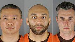 Imponen una fianza de un millón de dólares a los tres oficiales acusados de complicidad en la muerte de Floyd