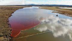 El vertido de 20.000 toneladas de diésel contamina un río en el Ártico ruso
