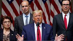 Trump presume de la fortaleza económica del país como plan contra el racismo mientras continúan las protestas