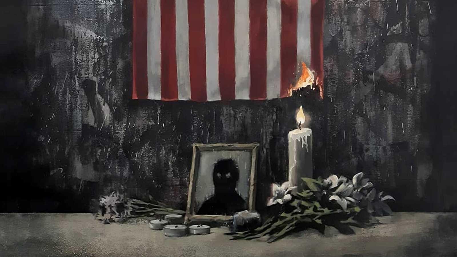 Vídeo: Banksy publica un grafiti contra el racismo tras el asesinato de George Floyd