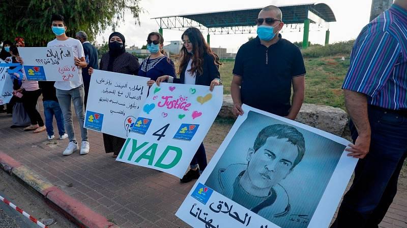 Protestan en Jerusalén contra la violencia policial por la muerte de un joven palestino