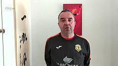 """Manu Etayo (Sporting La Rioja): """"Sentimos mucho lo que le ha pasado al Alcobendas"""""""