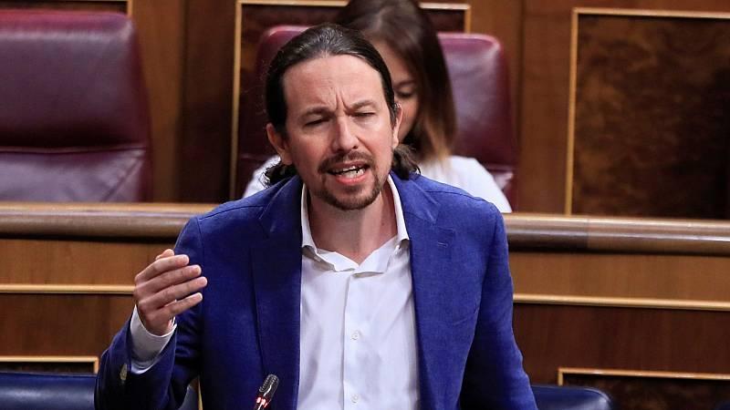 """Iglesias acusa al PP de """"indecencia"""" en la crisis de las residencias en la Comunidad de Madrid"""