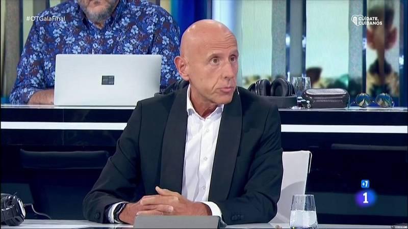 Javier Llano recuerda a Pau Donés, líder de Jarabe de Palo, tras su muerte, en la Gala Final de OT 2020