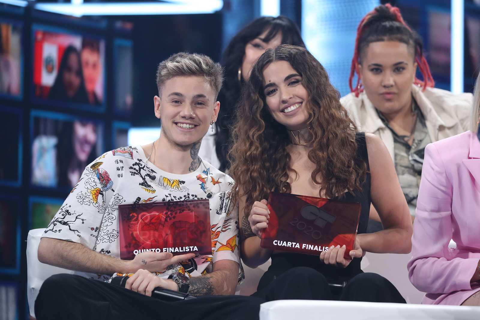 Anajú y Hugo, cuarta y quinto finalistas de OT 2020