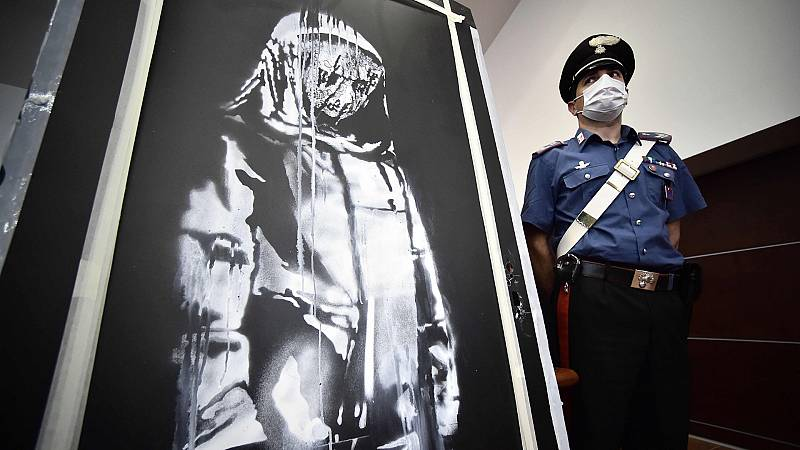 Banksy: recuperan en Italia la puerta desaparecida de la Sala Bataclan