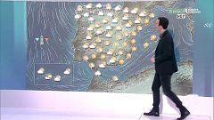 Precipitaciones fuertes en el norte y temperaturas anormalmente bajas en gran parte de la Península